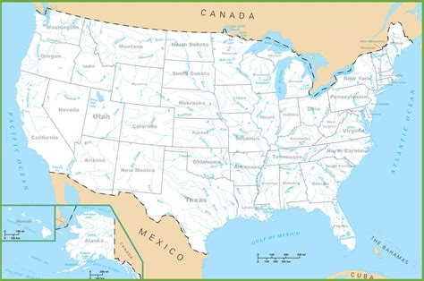 rivers map usa carte des usa etats unis cartes du relief villes