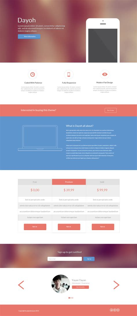 land page template 40 best free landing page psd templates designmaz