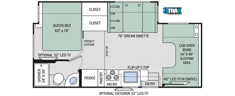 chateau rv floor plans floor plans chateau 24f