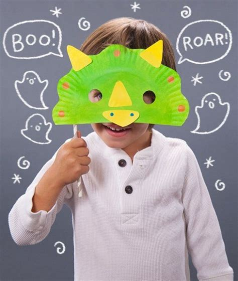 How To Make Paper Plate Masks - diy animal crafts 22 dinosaur craft activities and school