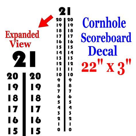 corn hiolescore card template diy scoreboard vinyl decal ver 6 select color