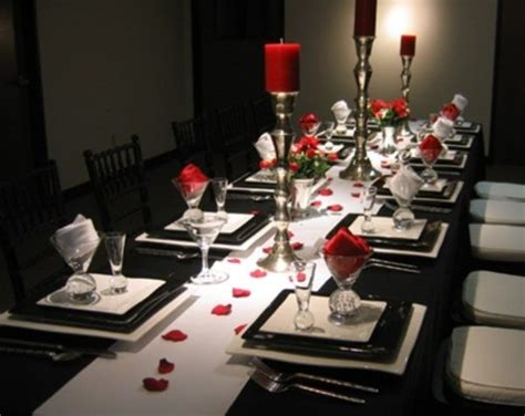 black white and red home decor 20 valentine s day table settings perfect for romantic