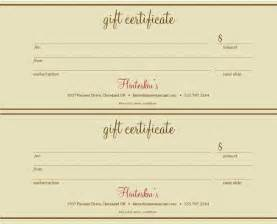 Free Gift Certificate Template For Word   Template