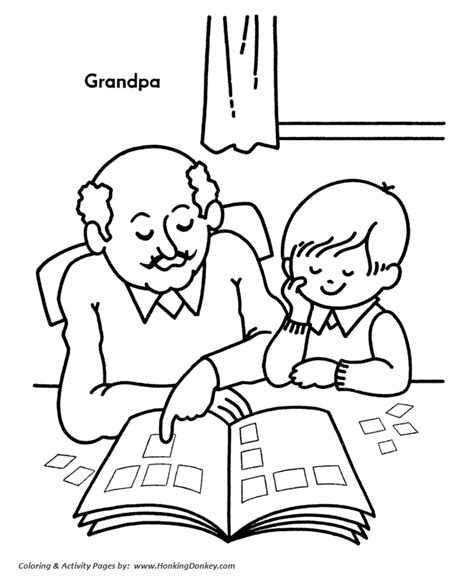 coloring pages for grandparents day 1000 images about thema familie grootouders on