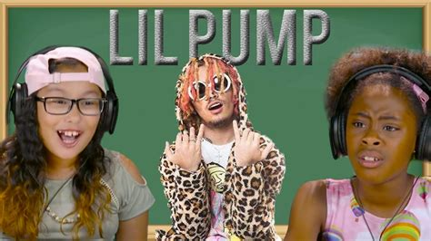 lil pump as a kid kids react to lil pump youtube