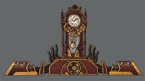 Wall Clock Art Steampunk Victoran Clock Tower Minecraft Project