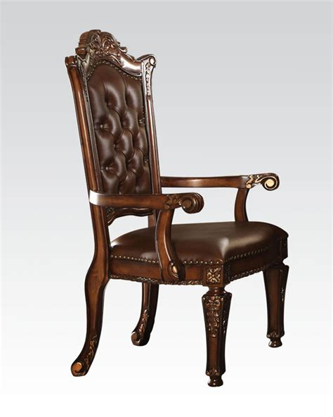 traditional style office chairs acme furniture office arm chair in traditional style ac92126
