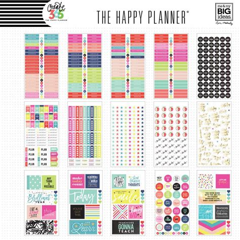 create 365 the happy planner sticker value pack big