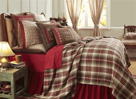 plaid coverlet tacoma woven red plaid coverlet by vhc brands