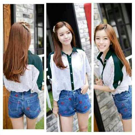 Blus Katun Kombinasi Brukat baju atasan wanita quot blouse putih brukat cantik quot terbaru
