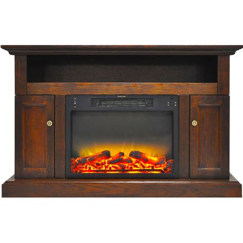 fireplace display cambridge sorrento electric fireplace with an enhanced log
