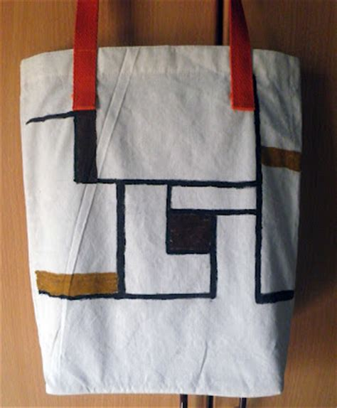 unique bag canvas mondrian wholly tas kanvas lukis mondrian