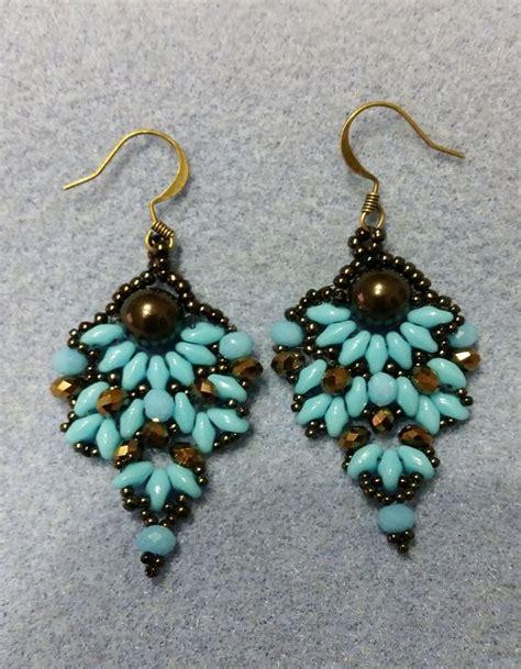 diy beaded earrings tutorial diy tutorial orecchini perline superduo bead earrings