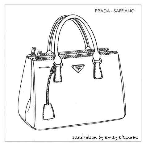 Sketches Bags by Prada Saffiano Bag Designer Handbag Illustration