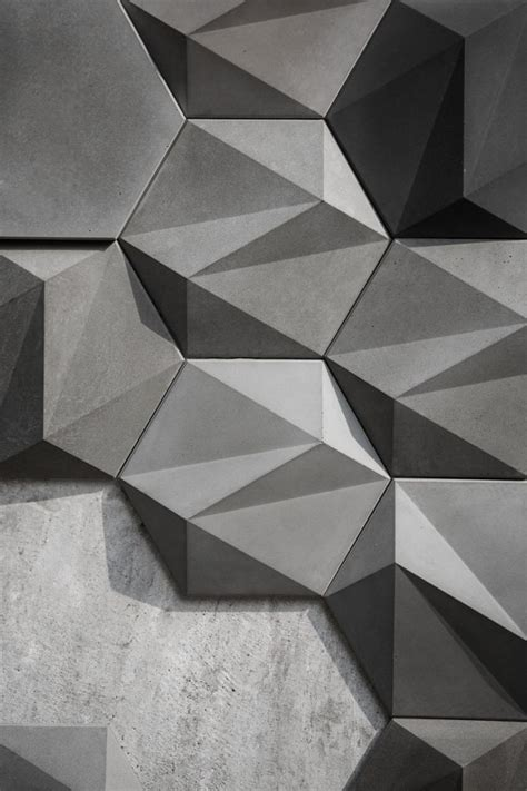 san geometric concrete wall decoration  bentu design