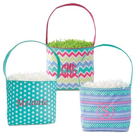 monogrammed fabric easter buckets lillian vernon