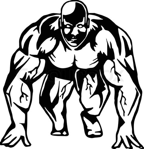 Outline Of A Bodybuilder by Running Bodybuilder Is And Live Traced Fills And Outlines Are Separate Groups
