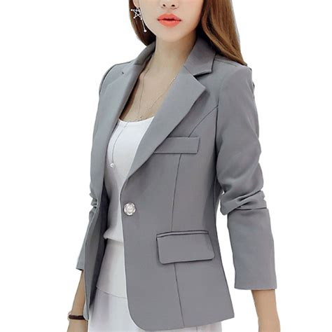 Coat Blezer Korea new sleeved slim blazers and jackets small suit korean version gray blue wine