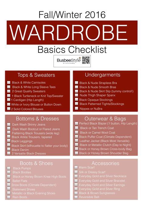 wardrobe essentials checklist fall winter wardrobe basics checklist by erin busbee