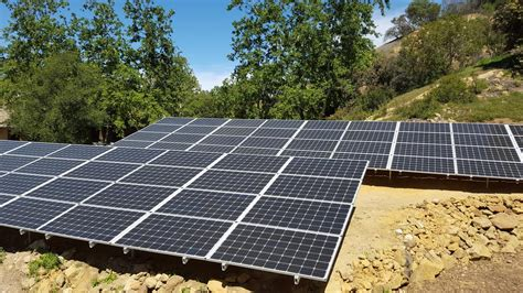 Ground Mount Panels Los Angeles California Home Solar