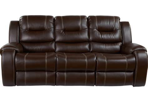 couch with recliner baycliffe brown power reclining sofa sofas brown