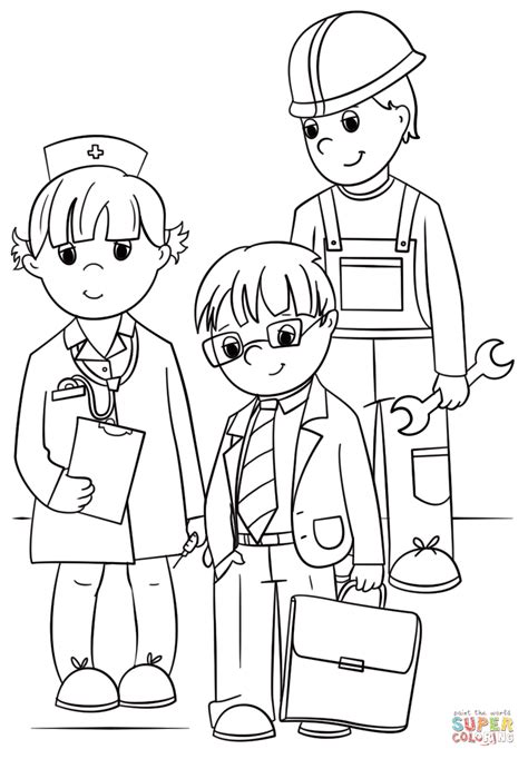 community helpers coloring pages community workers coloring page free printable coloring