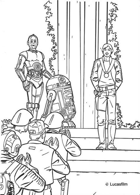 C 3po Coloring Pages by Victory Celebration Luke R2 D2 And C 3po Coloring Pages
