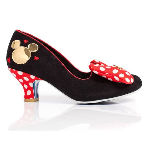 disney high heel shoes irregular choice classic minnie womens disney high heel