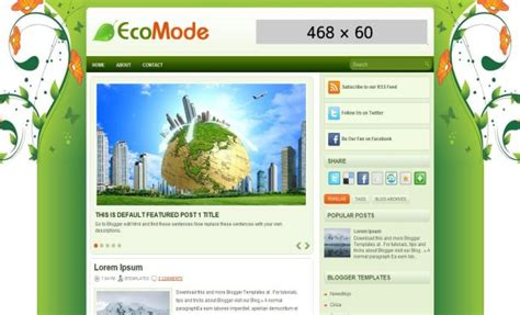 nature templates for blogger eco green 2013 program blogger template free download