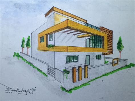 3d perspective house drawing pencil how to draw a room in