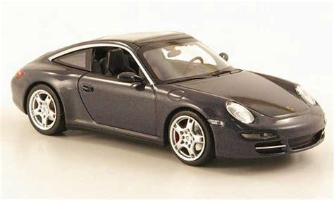 Diecast Miniatur Replika Mobil Porsche 911997 S Coupe porsche 997 targa gray 2006 minichs diecast