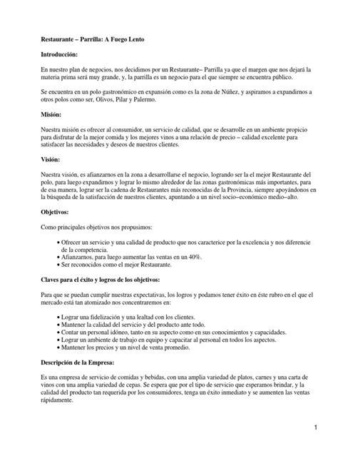 carta de presentacion de propuesta de capacitacion ejemplo plan de negocios restaurante