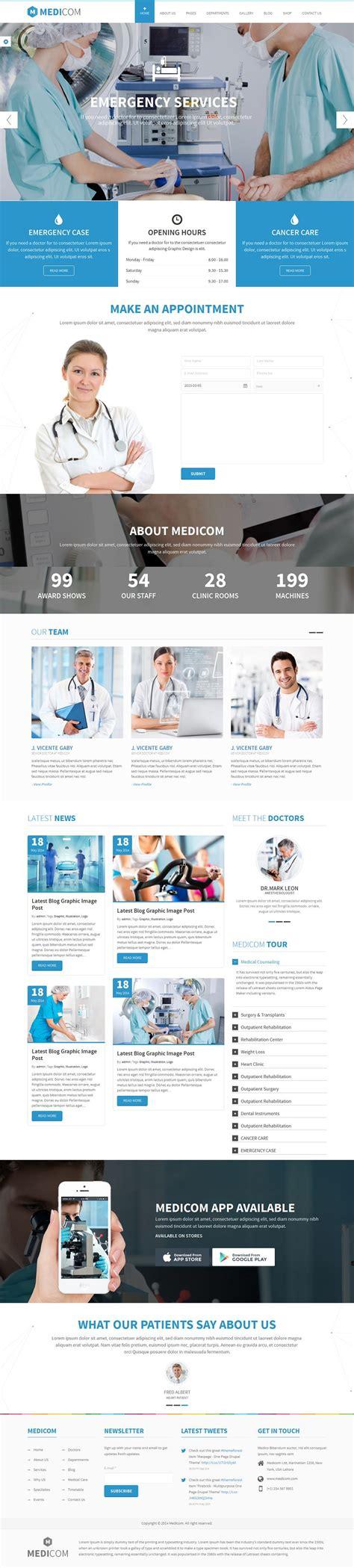 theme drupal health medicom medical health drupal ubercart ecommerce theme