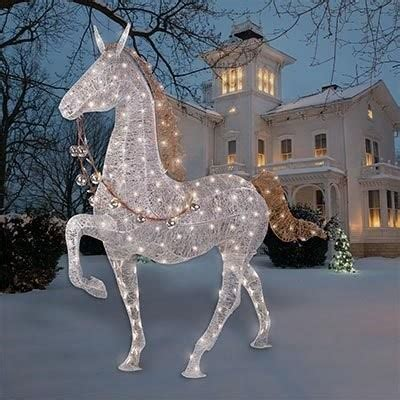 christmas lighted horse outdoor decoration 240led light