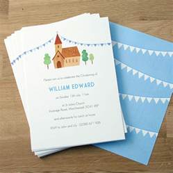 personalised boy s christening invitations by made by ellis notonthehighstreet