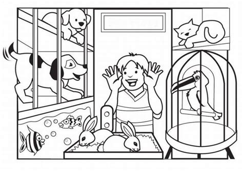 coloring pages vip pets a visit to the pet store kids and pets coloring pages