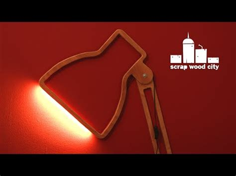 Creative Desk Lamps Diy Creative Wall Lamp With Led Strip Out Of Plywood Youtube