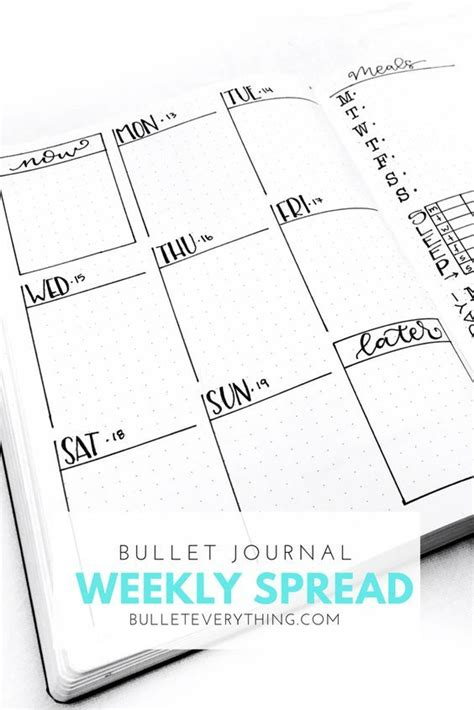 layout journal download bullet journal weekly spread from bullet everything read