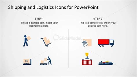 template powerpoint logistics modern flat design powerpoint icons of shipping and