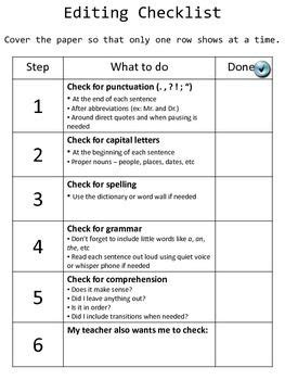 Essay Feedback Checklist by Editing Peer Review Checklists Photo Editor Editor And Writing Prompts
