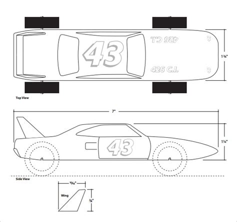 free templates for pinewood derby cars 21 cool pinewood derby templates free sle exle