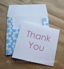 thank you card and envelope template free printable thank you cards