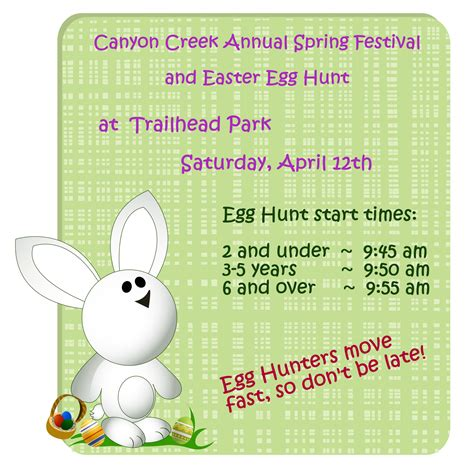 annual canyon creek nw austin easter egg hunt saturday