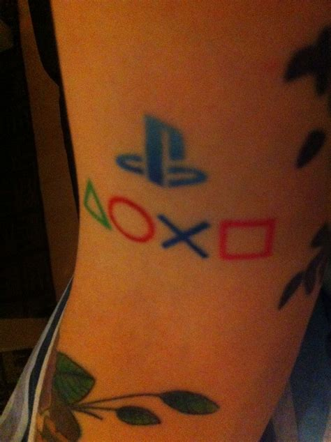 playstation tattoo just my playstation tattoos