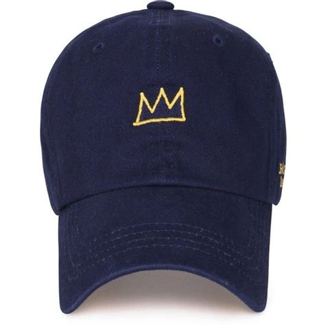 jean michel basquiat cotton crown embroidery curved