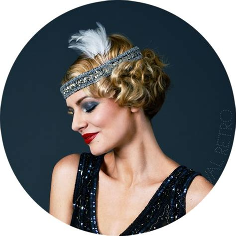 20s hairstyles with headband 1920s headband with feather 20 s pinterest