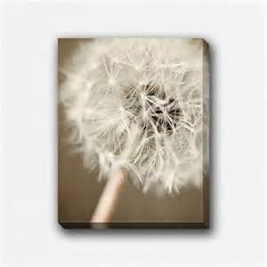 shabby chic decor canvas art print dandelion by