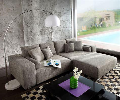 big sofa xxl marbeya  hellgrau hocker schlaffunktion moebel sofas big sofas
