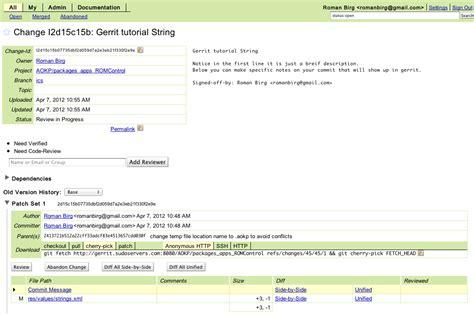 git gerrit tutorial aokp co setup and usage of aokp s gerrit
