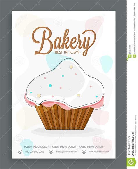 cupcake menu card template menu card design for bakery stock photo image of